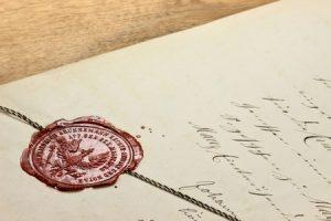 Produktschutz auf Brief und Siegel